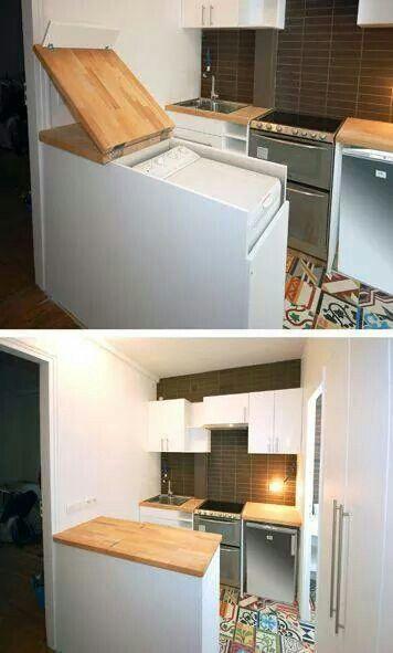 Lavadora secadora Decoración Pinterest Logement, Lave linge et