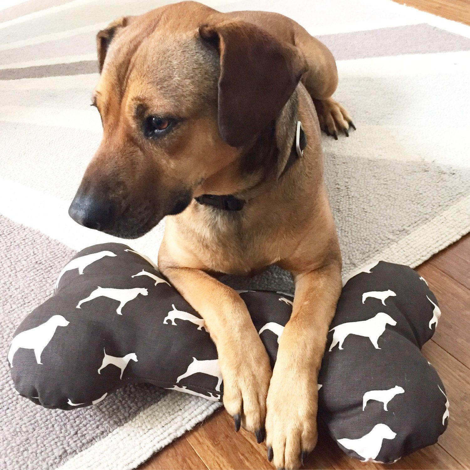 Plush Dog Bone Pillow