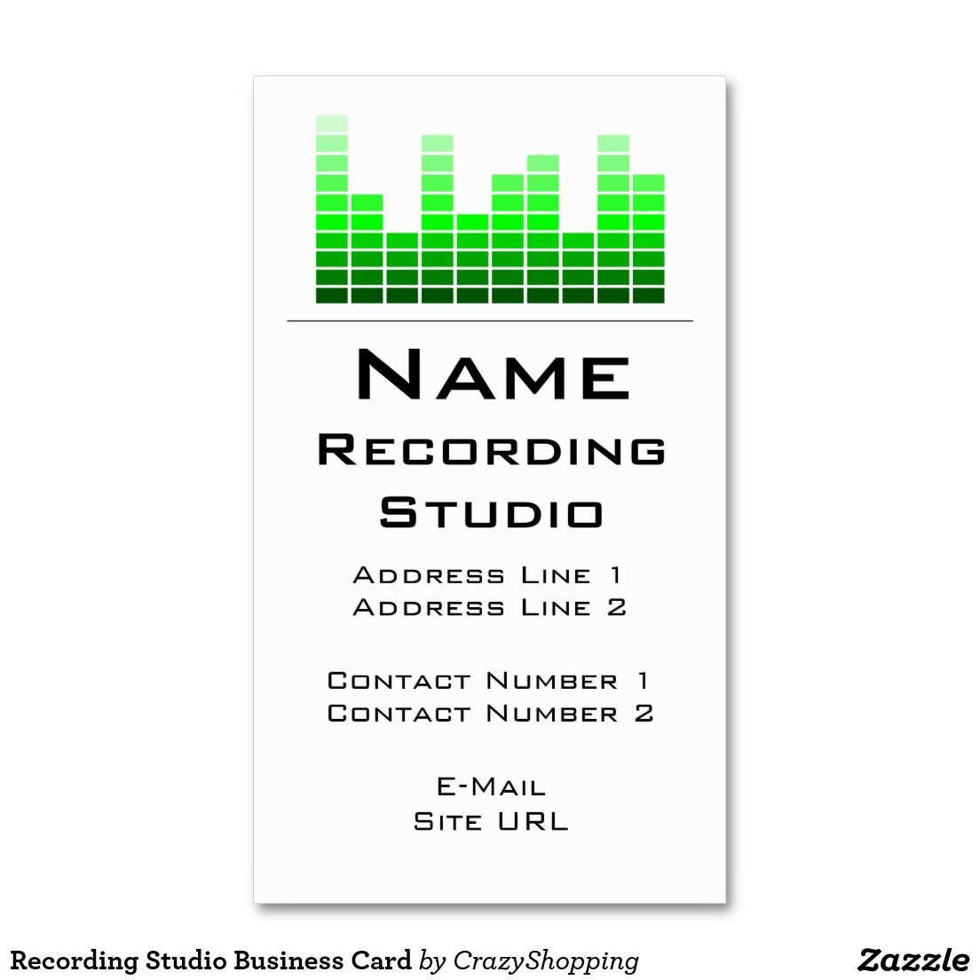Recording studio business card business cards pinterest recording studio business card audio engineerrecording magicingreecefo Images