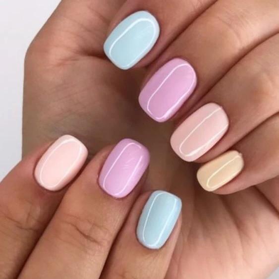 Summer Nail Colors 2020 Busqueda De Google Gel De Unas Manicura Para Unas Cortas Manicura De Unas