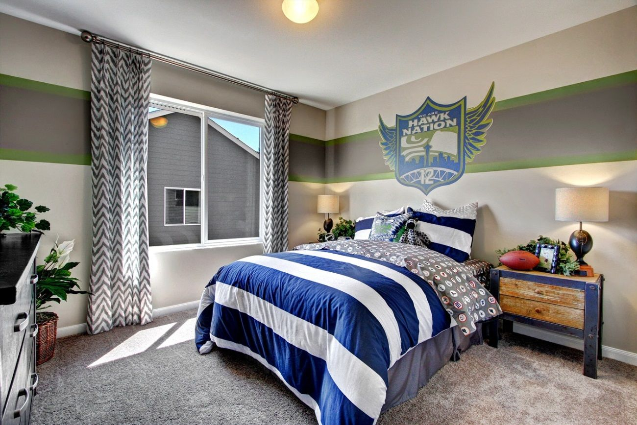Is it football season yet? This themed bedroom in one of
