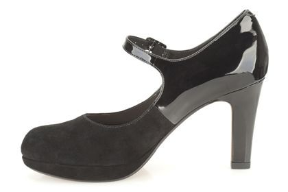 Womens Smart Shoes - Angie Kendra in Black Combination Suede from Clarks shoes