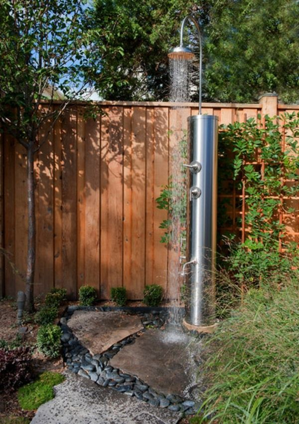 Designs for stimulating garden showers wood fences | BUILDING, DIY ...
