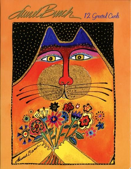 Leanin Tree Cat Note Card Assortment   Laurel Burch