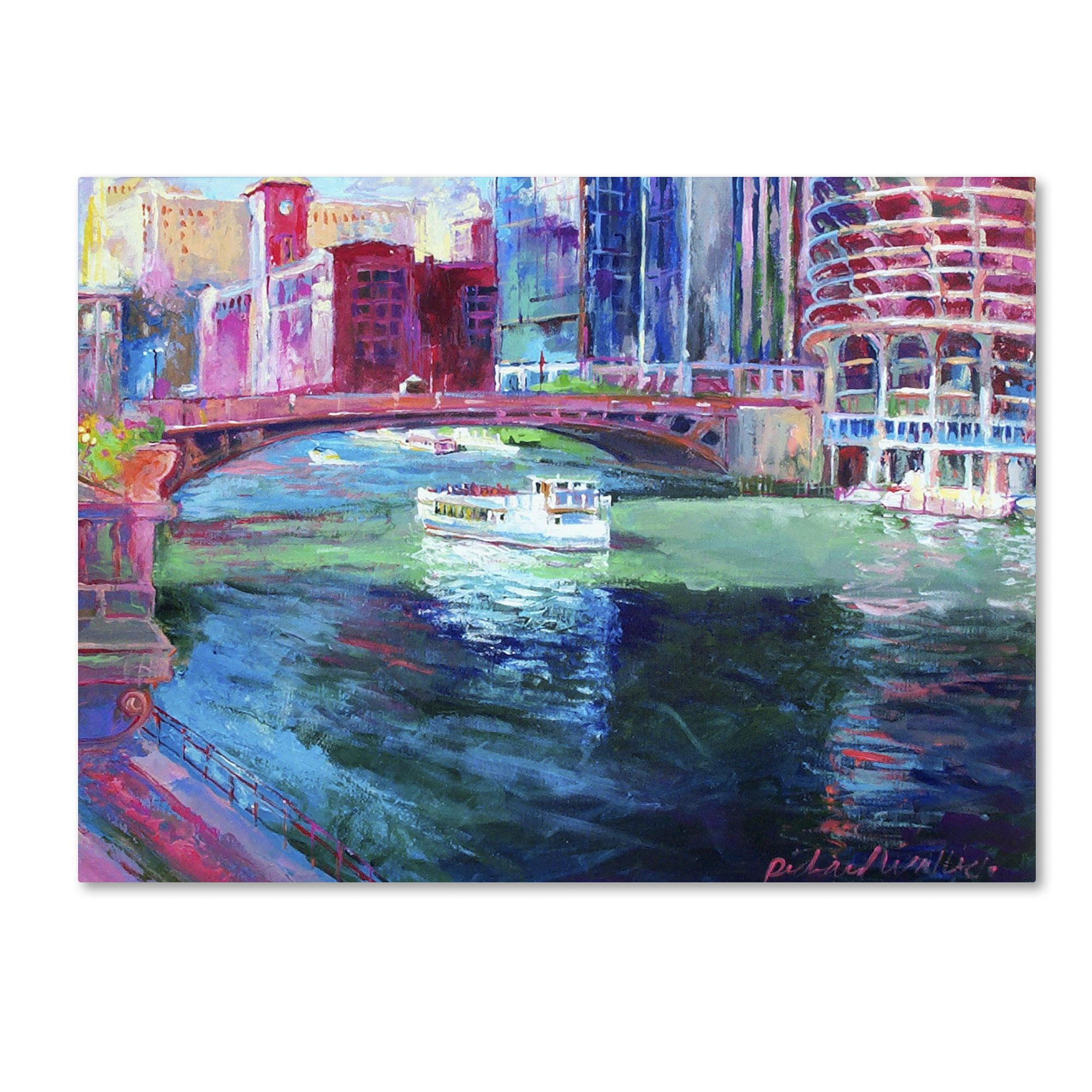 Trademark Fine Art Richard Wallich 'Chicago 2' Canvas Art