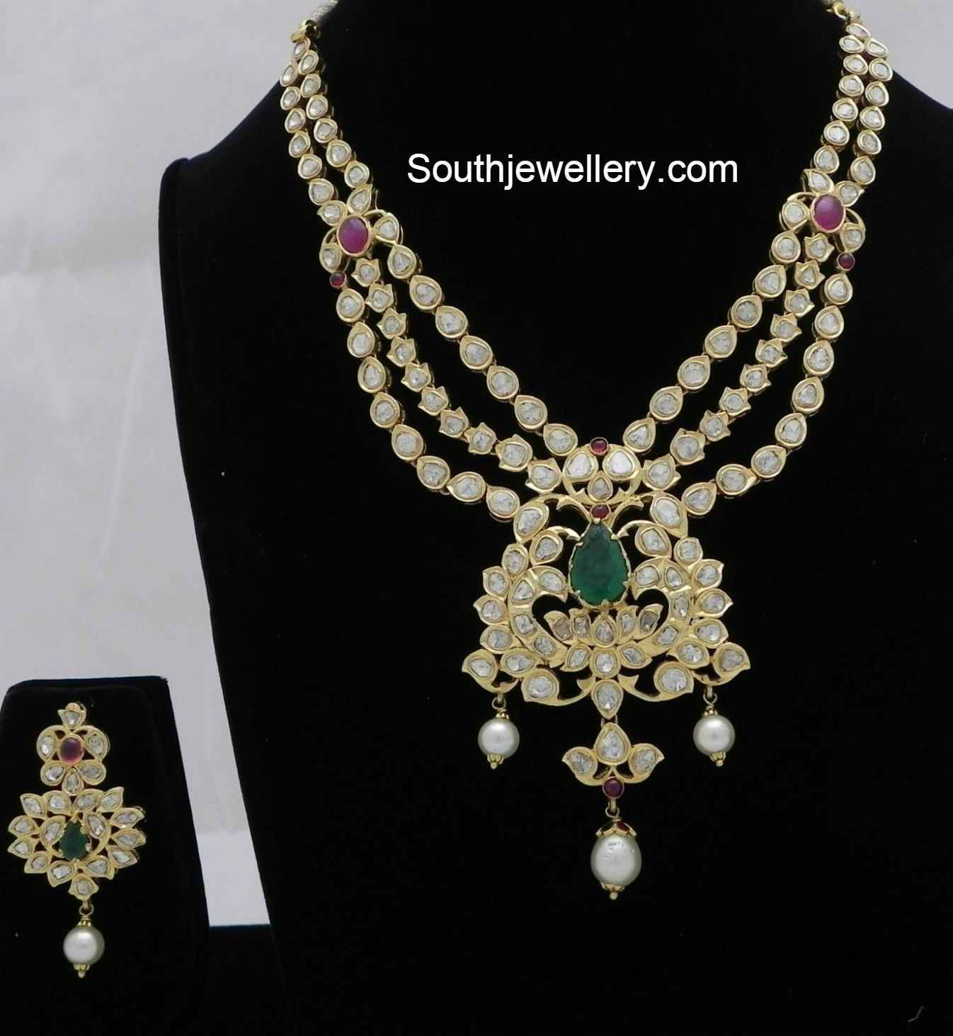 Pacchi necklace set jewellery designs indian jewellery