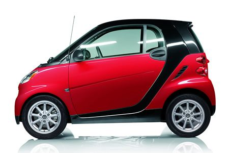 smart fortwo passion coupe rally red  black tridion cars scooters motorcycles