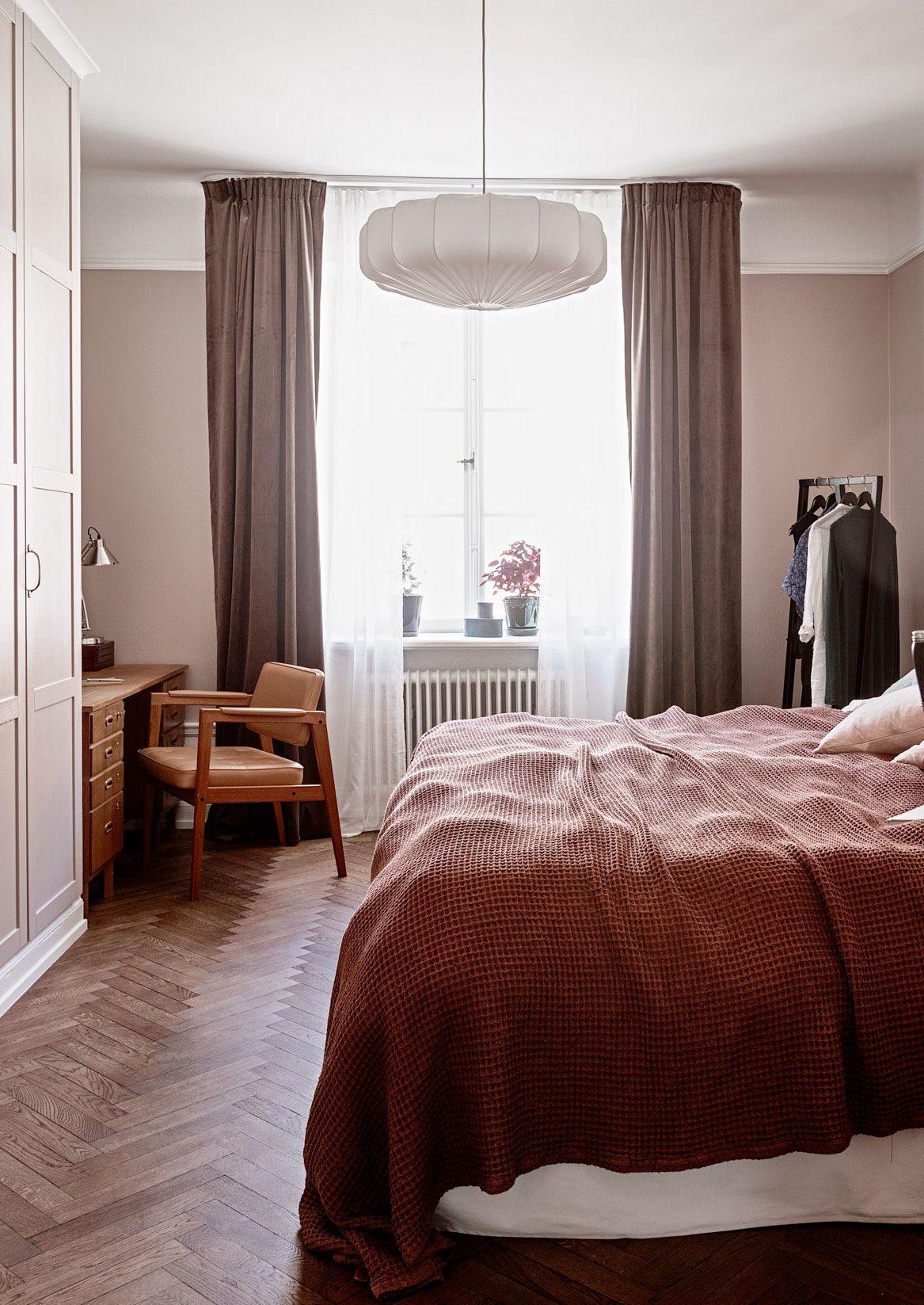Dusky Pink Bedroom Curtains