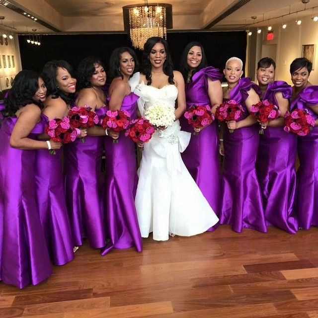 Account Suspended Bridesmaid African Bridesmaids Purple Wedding