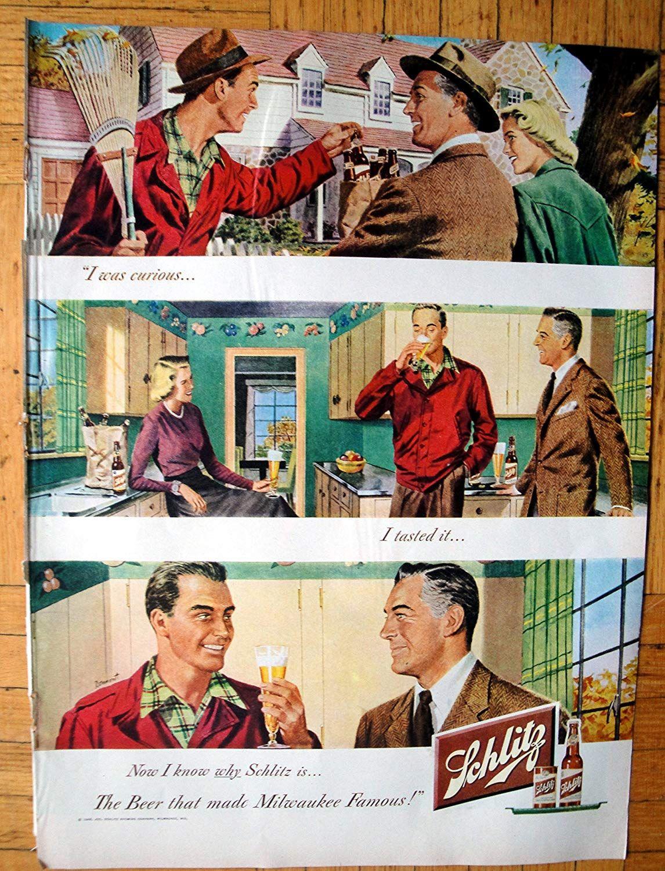 Amazon.com : 1948 Schlitz Beer- Kitchen + Yard - Artist ...