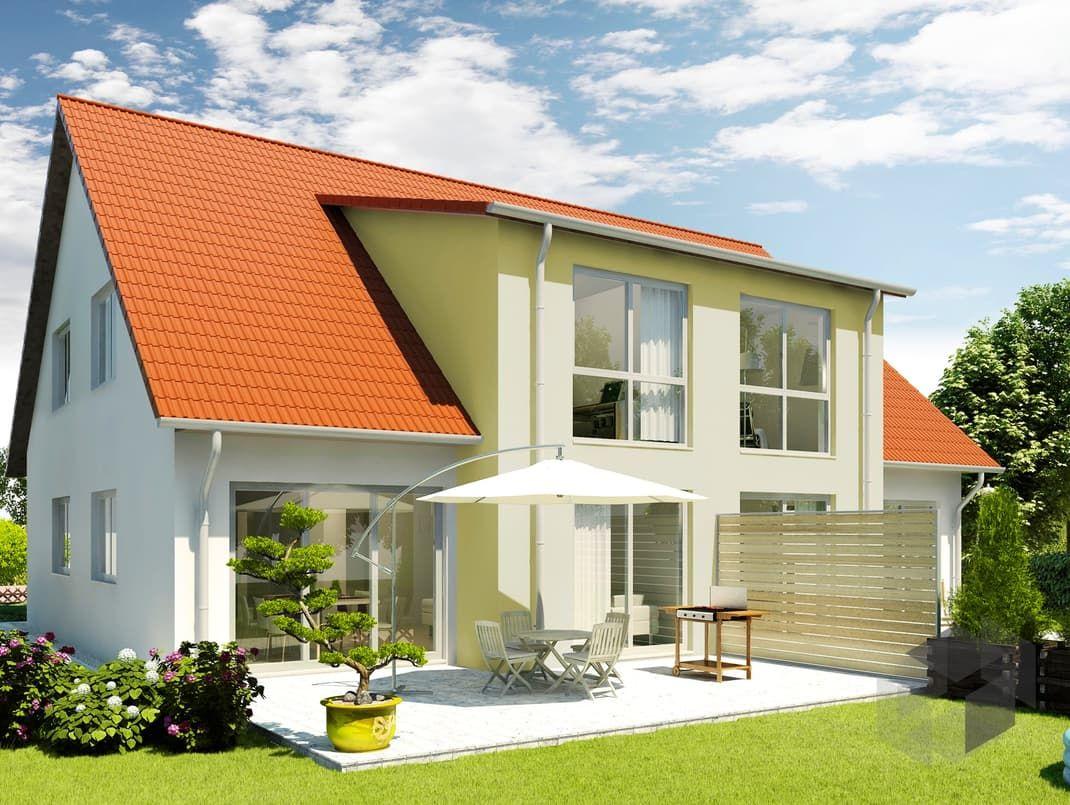 Oxford von HELMA Eigenheimbau Wohnfläche gesamt 118,64 m² Zimmeranzahl 7   Mehr Infos einholen auf der #Fertighaus.de Webseite: https://www.fertighaus.de/nutzung/doppelhaus/?utm_source=Pinterest&utm_medium=Pinterest&utm_campaign=Doppelh%C3%A4user&utm_content=Doppelh%C3%A4user  Doppelhaus, Zweifamilienhaus, Haustypen, Barrierefrei, Hausbau, Luxushaus, Familienhaus  www.fertighaus.de