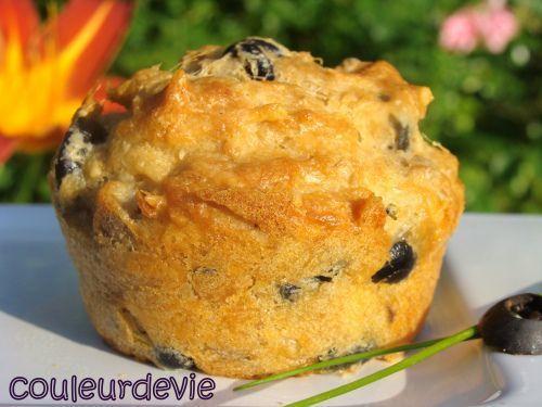 Muffins au thon et aux olives noires, Recette Ptitchef
