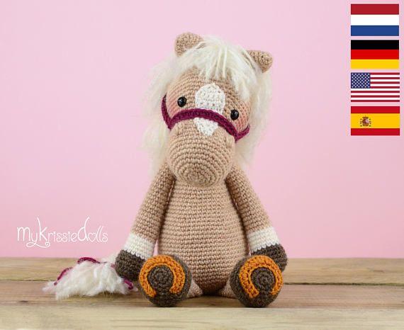 Amigurumis Caballitos A Crochet : Crochet pattern horse piem amirigumi para bebes y caballos