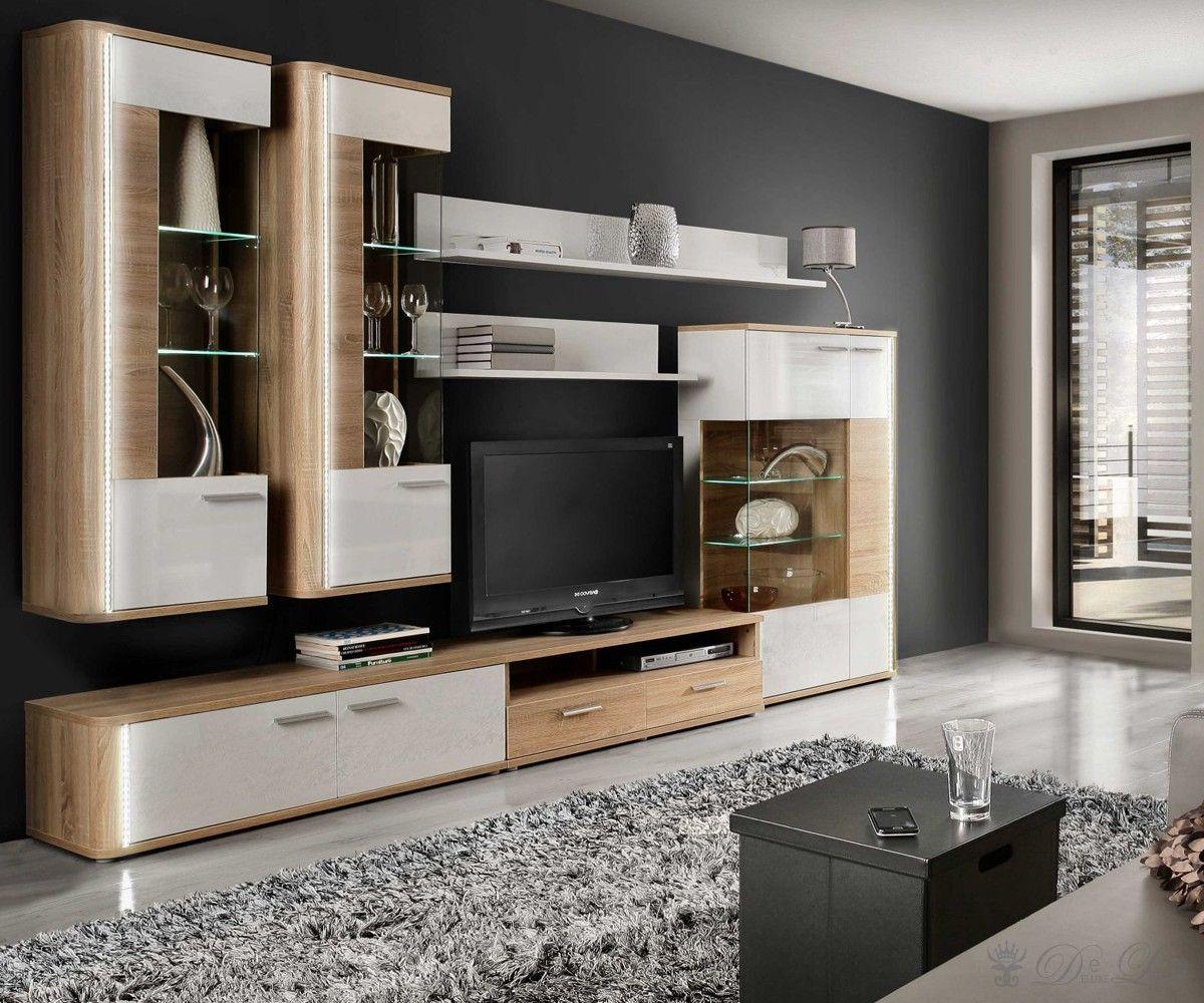 Wohnzimmermöbel modern weiß  Tolle wohnwand buche günstig | Deutsche Deko | Pinterest ...