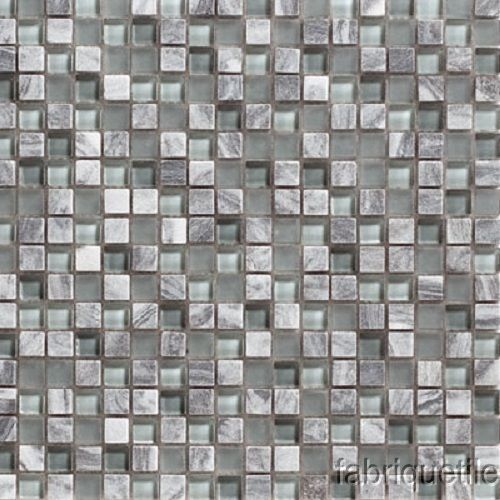How To Create A Greyscale Bathroom: Mosaic-Tile-Glass-Stone-Iridescent-Checkerboard-Pattern-12