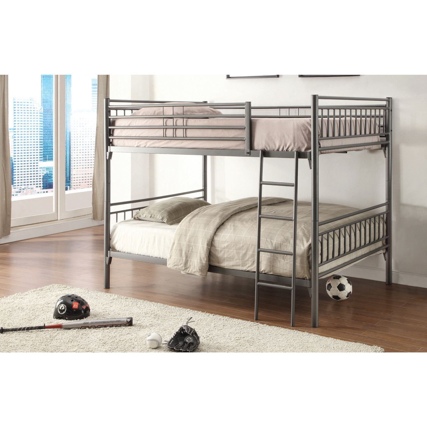 Children's loft bed ideas  Youull love the Full Over Full Bunk Bed at Wayfair  Great Deals on