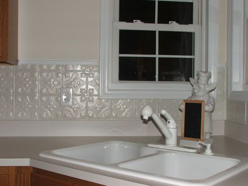 Even A White Tin Backsplash Adds Visual Interest Tin Backsplash