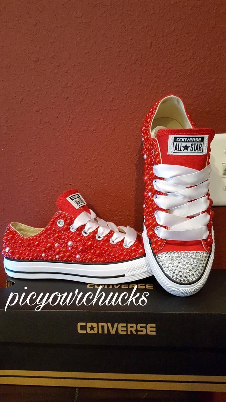 Pearl Converse In 2020 Converse Shoe Makeover Wedding Sneakers