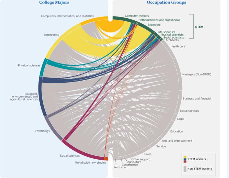 Translating College Majors Into Jobs An Interactive Data Visualization Stem Majors Interactive Charts College Majors
