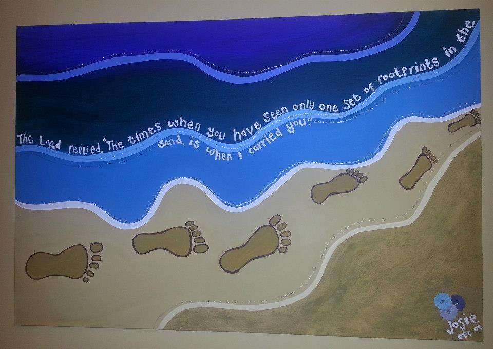 Footprints Acrylic on Canvas