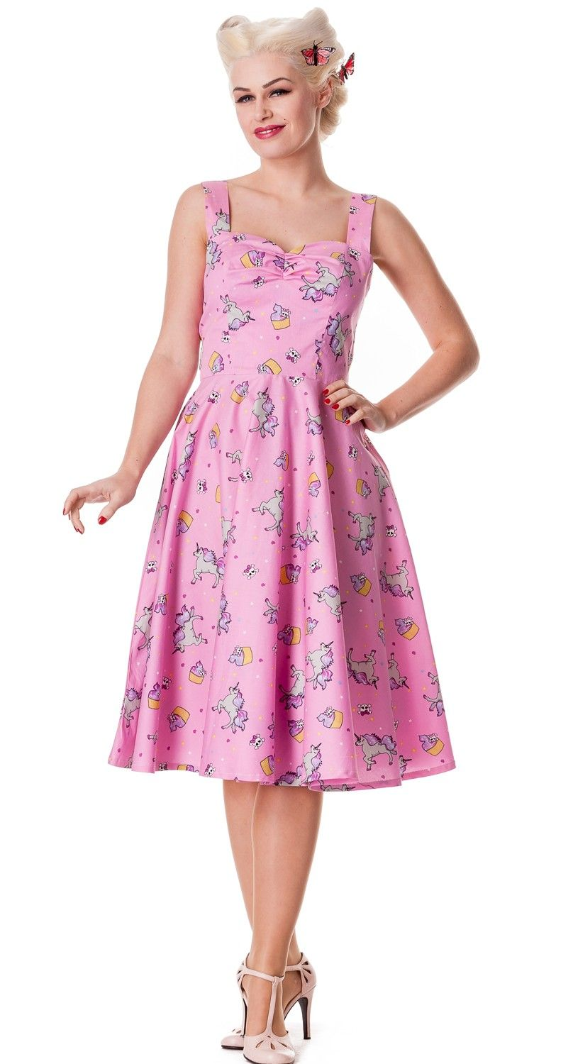 pink unicorn 50\'s swing dress | Vintage Pin Up Retro/Turn of the ...