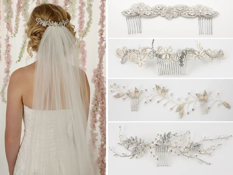 How To Wear A Single Tier Veil And A Hair Vine To Complete Your