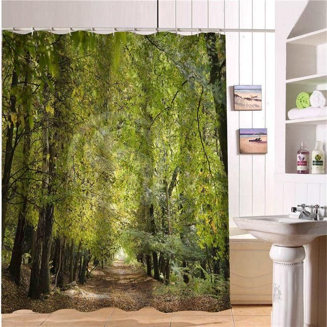 3d Nature Landscape Shower Curtain Modern Shower Curtains