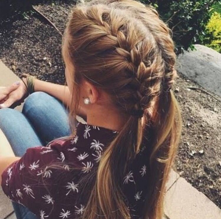 French Braid Hairstyles Entrancing Pinterest Selinaa  Pretty Little Me  Pinterest  Hair Style