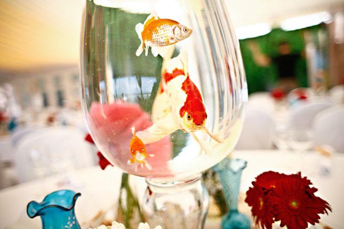 Fish Bowl Wedding Centerpieces