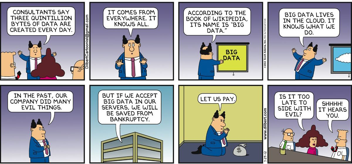 Dilbert S 20 Funniest Cartoons On Big Data Data Science Central
