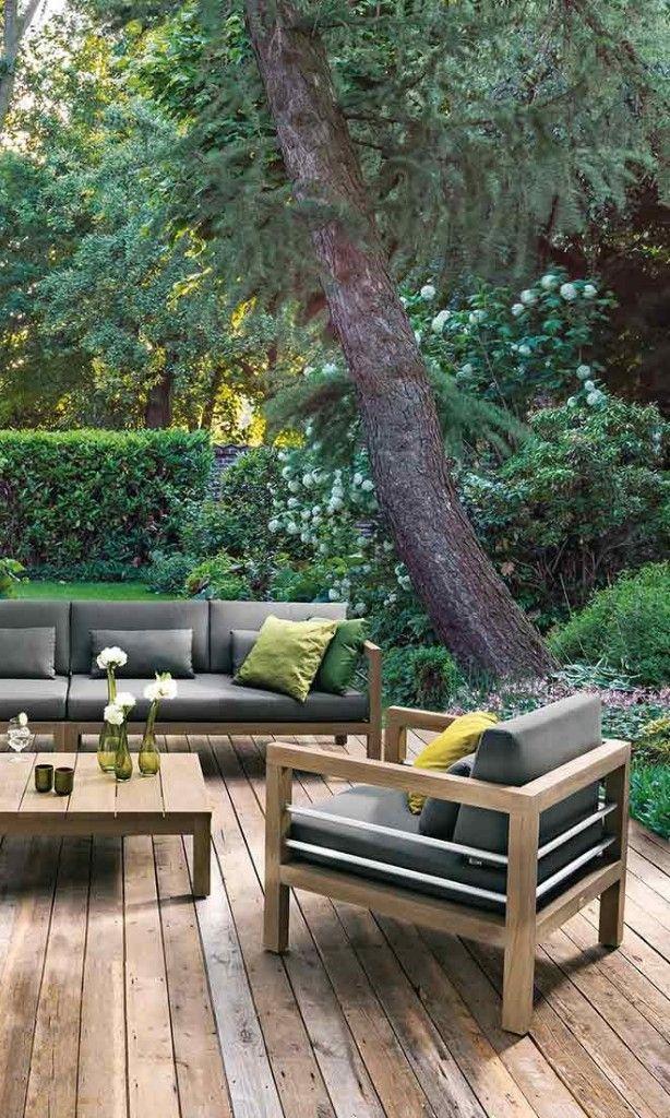 Rustikale Gartenmöbel Rustikale Terrassengestaltung Gartenlounge