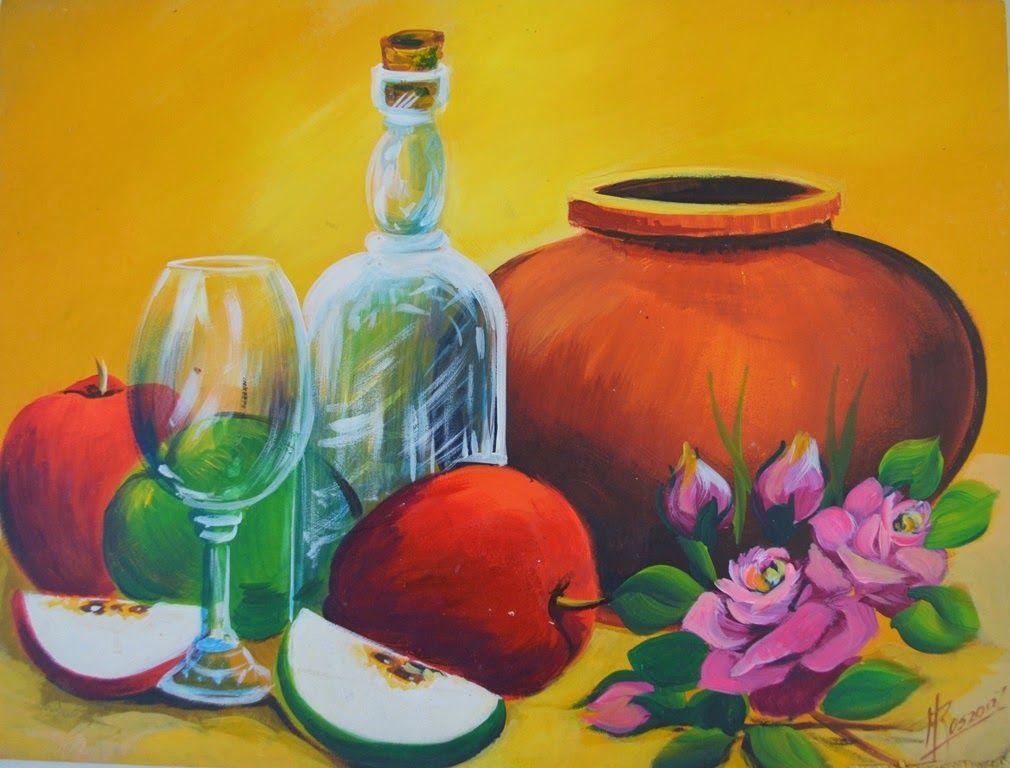 Bodegon Moderno Facil De Frutas Acrilico Jpg 1010 768 Pinturas
