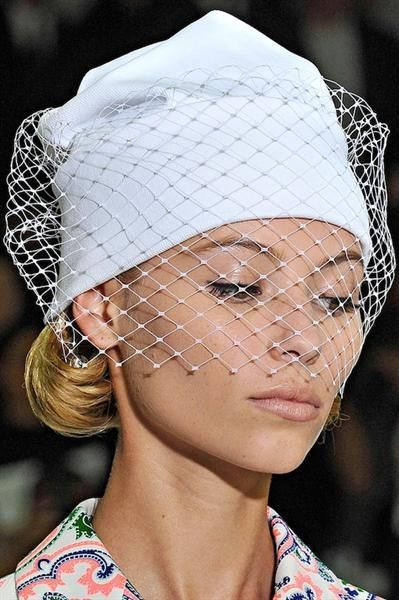43a4735b5f0 Jil Sander s veiled beanie is just begging for some diy recreation ...