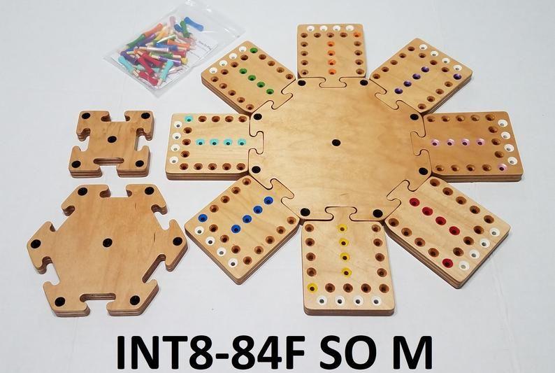 8 player modular fast track board game aggravation board