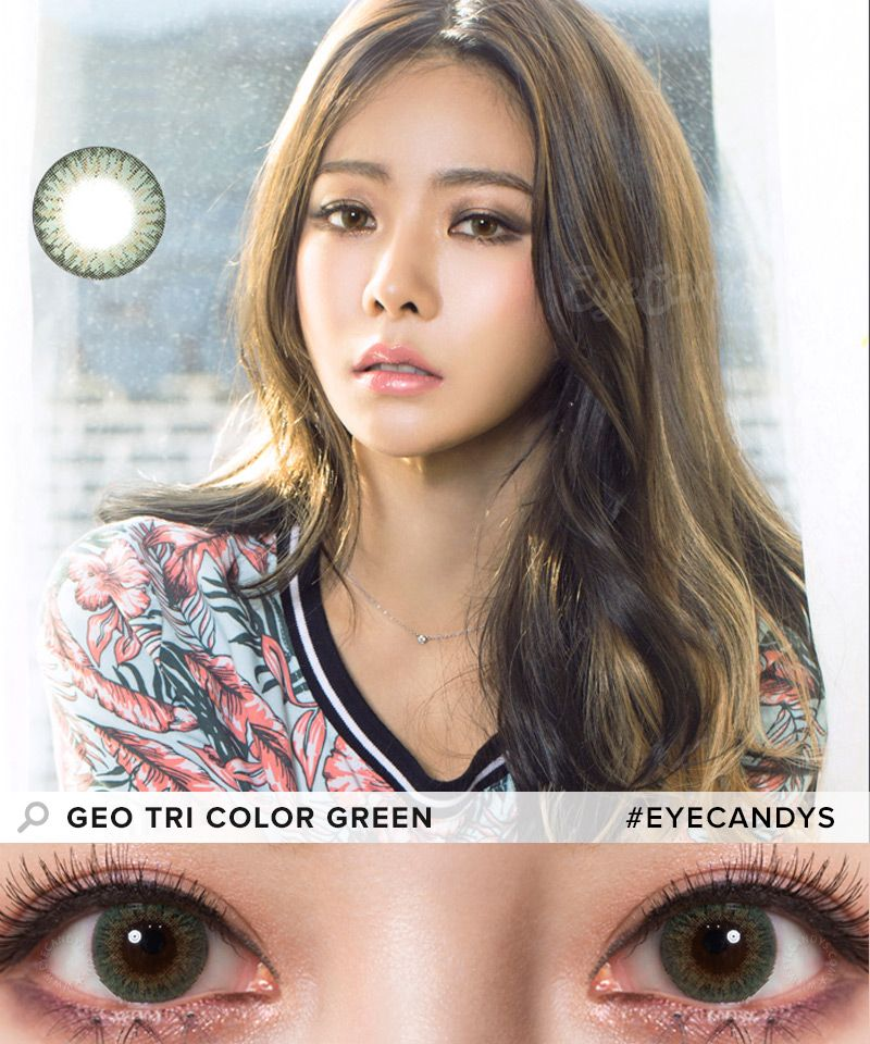 9c9809aaff2 GEO Tri Color Colored Contacts are perfect for dark brown or almost black  eyes due to the high opacity design!  coloredcontacts  circlelens  eyecandys    ...