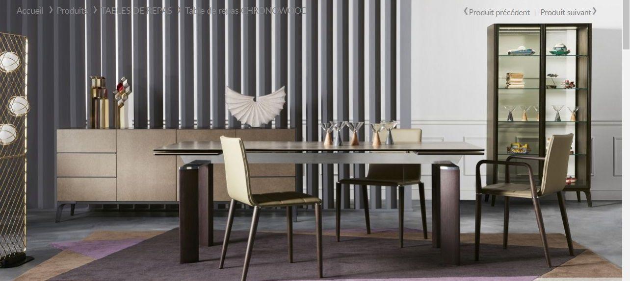 TABLE DE REPAS CHRONOWOOD, Design Studio ROCHE BOBOIS   CHAISES SENSATION,  Design Alexander