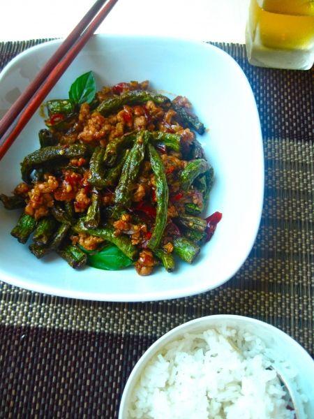 Szechuan Snake Beans with Minced Chicken