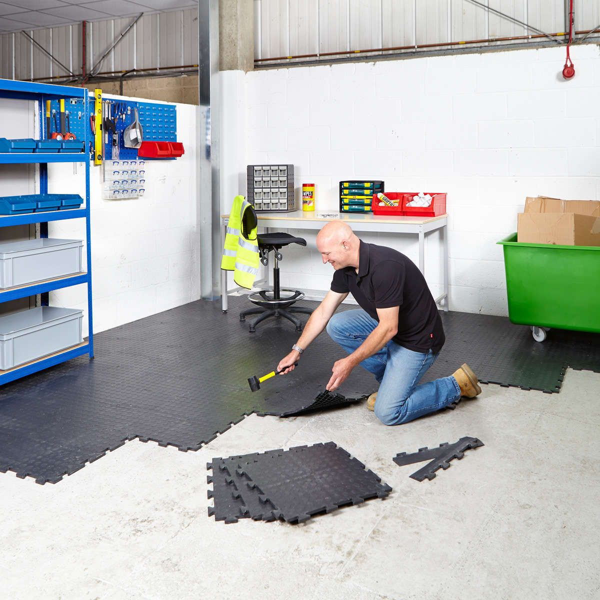 Interlocking garage floor tiles installation for the home interlocking garage floor tiles installation dailygadgetfo Image collections