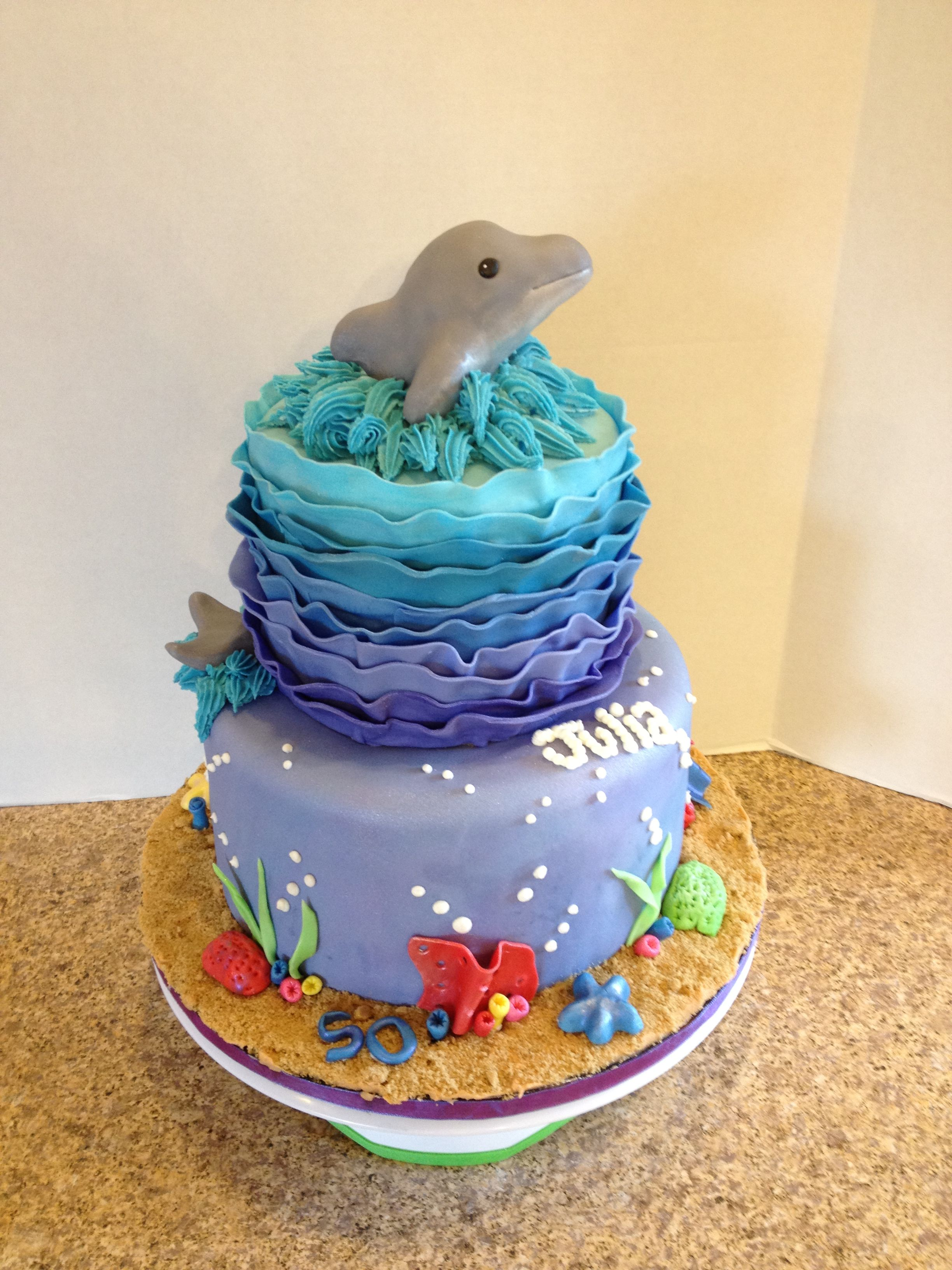 Dolphin Birthday Cake My Cake Creations Pinterest Dolphin