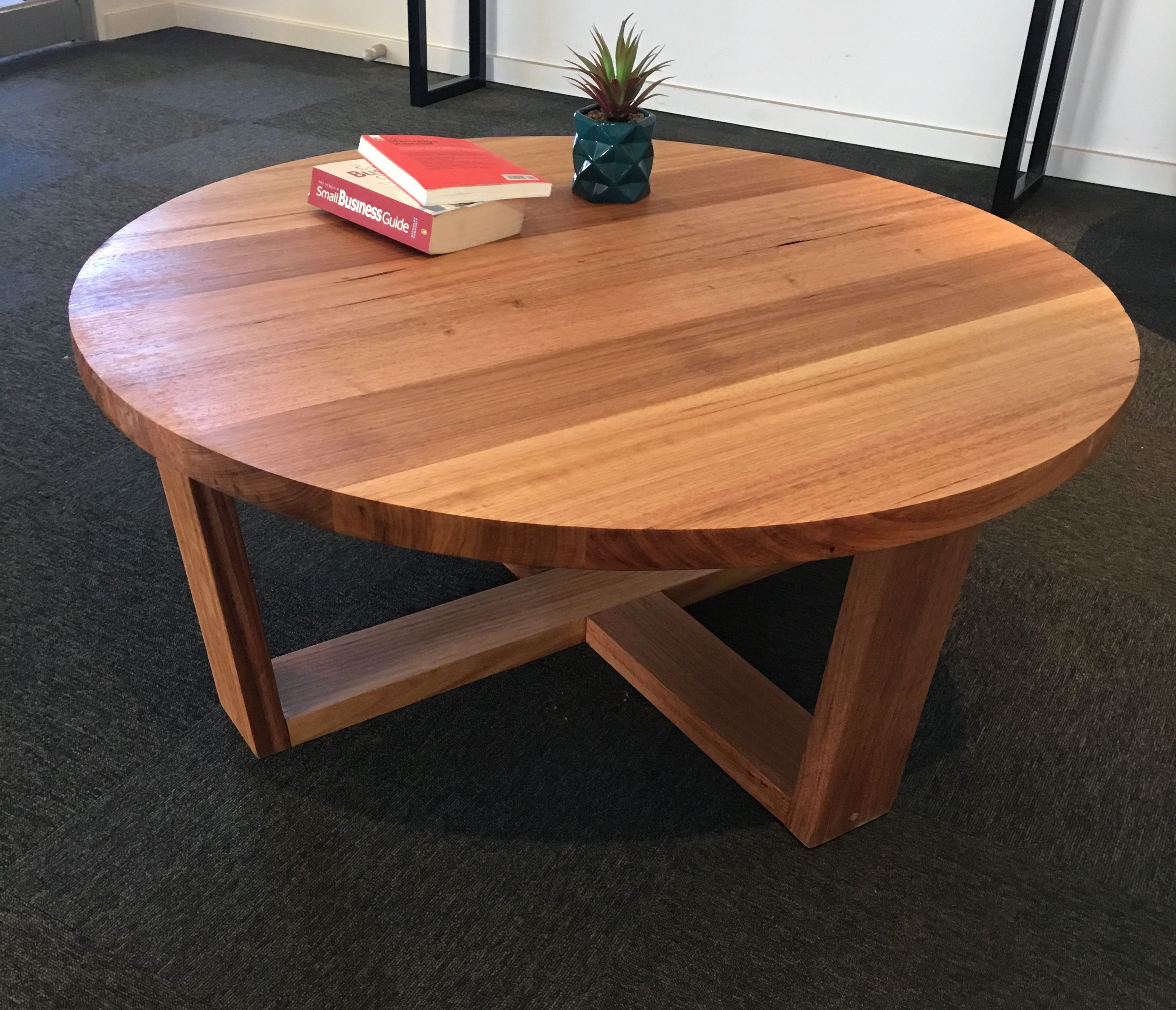 Recycled Tasmanian oak round coffee table