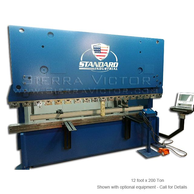 Standard Industrial 200 Ton X 12 Hydraulic Cnc Press Brake Ab200 Cnc Press Brake Hydraulic Press Brake