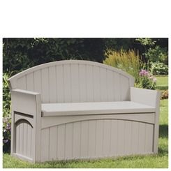 Suncast Patio Bench Shop Stoneberry On Credit With Images Patio Storage Patio Bench Outdoor Storage Bench