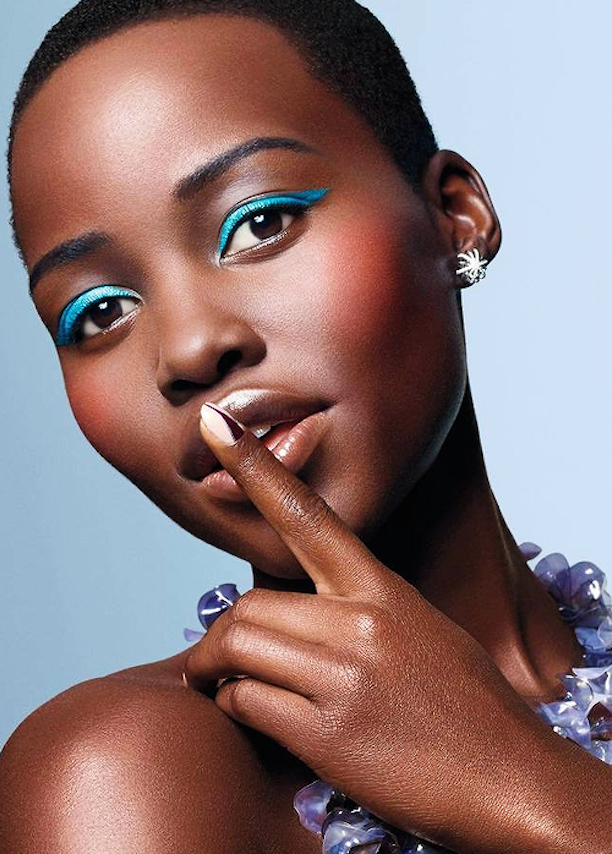 Lupita Nyongo Tries Out Springs Electric Blue Eyeliner -8331