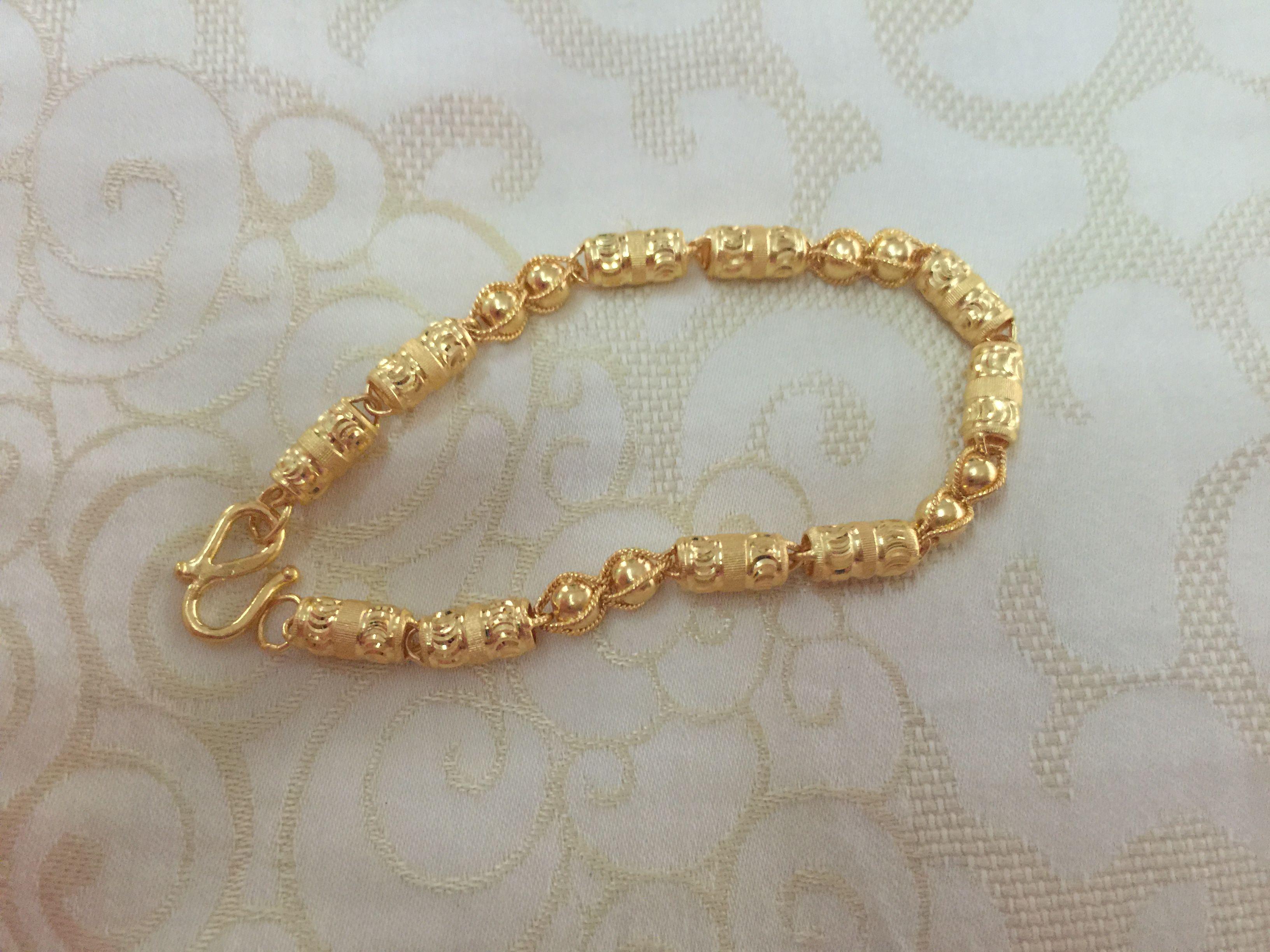 24k Gold Hong Kong Ornament Bracelet 22k 24k Gold Jewelry