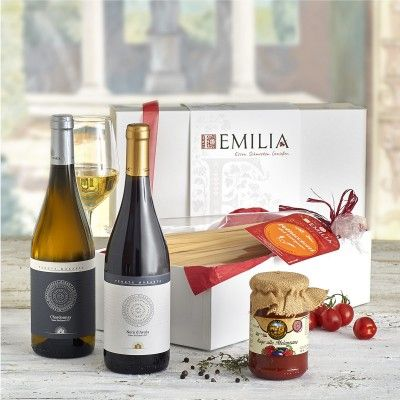 Präsentkorb La Notte Estiva - Wein, Pasta und Sugo