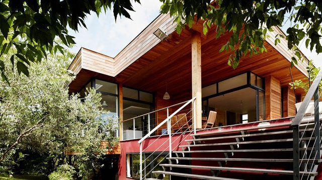 Extension maison en bois  73 m2 en plus Extensions, Verandas and