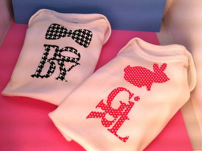 quick and easy baby onesies with cricut and sei iron on material!