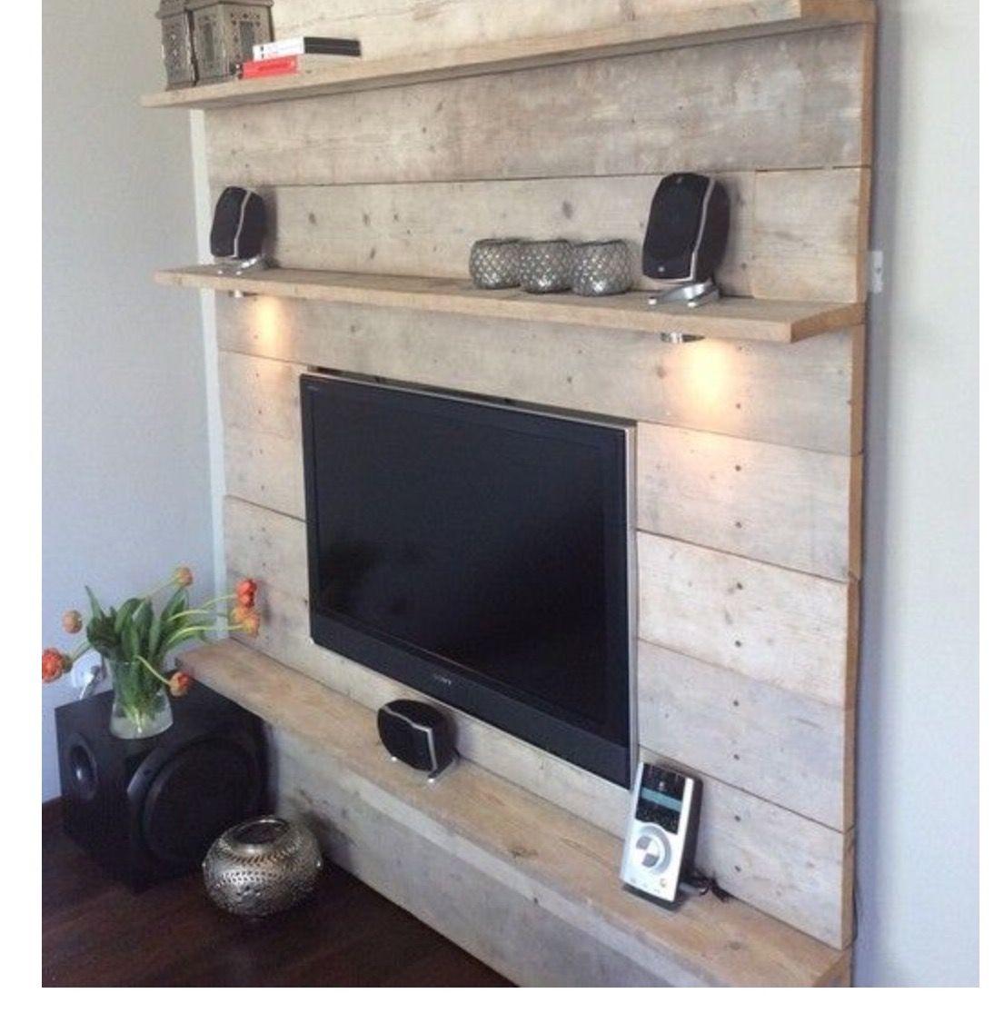 wohnzimmer einrichten diy : Pin Von Tinie Hoogvliet Auf Huis En Tuin Pinterest Fernsehwand