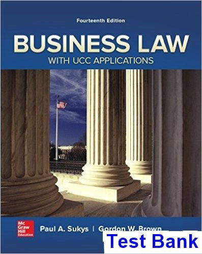 Business law with ucc applications 14th edition sukys test bank business law with ucc applications 14th edition sukys test bank test bank solutions manual fandeluxe Choice Image