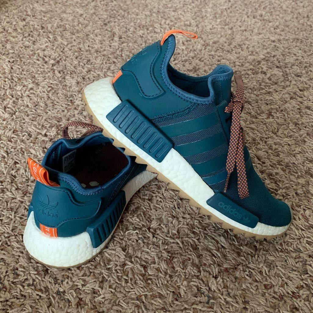 adidas Shoes | Adidas Nmd R1 Trail | Color: GreenOrange
